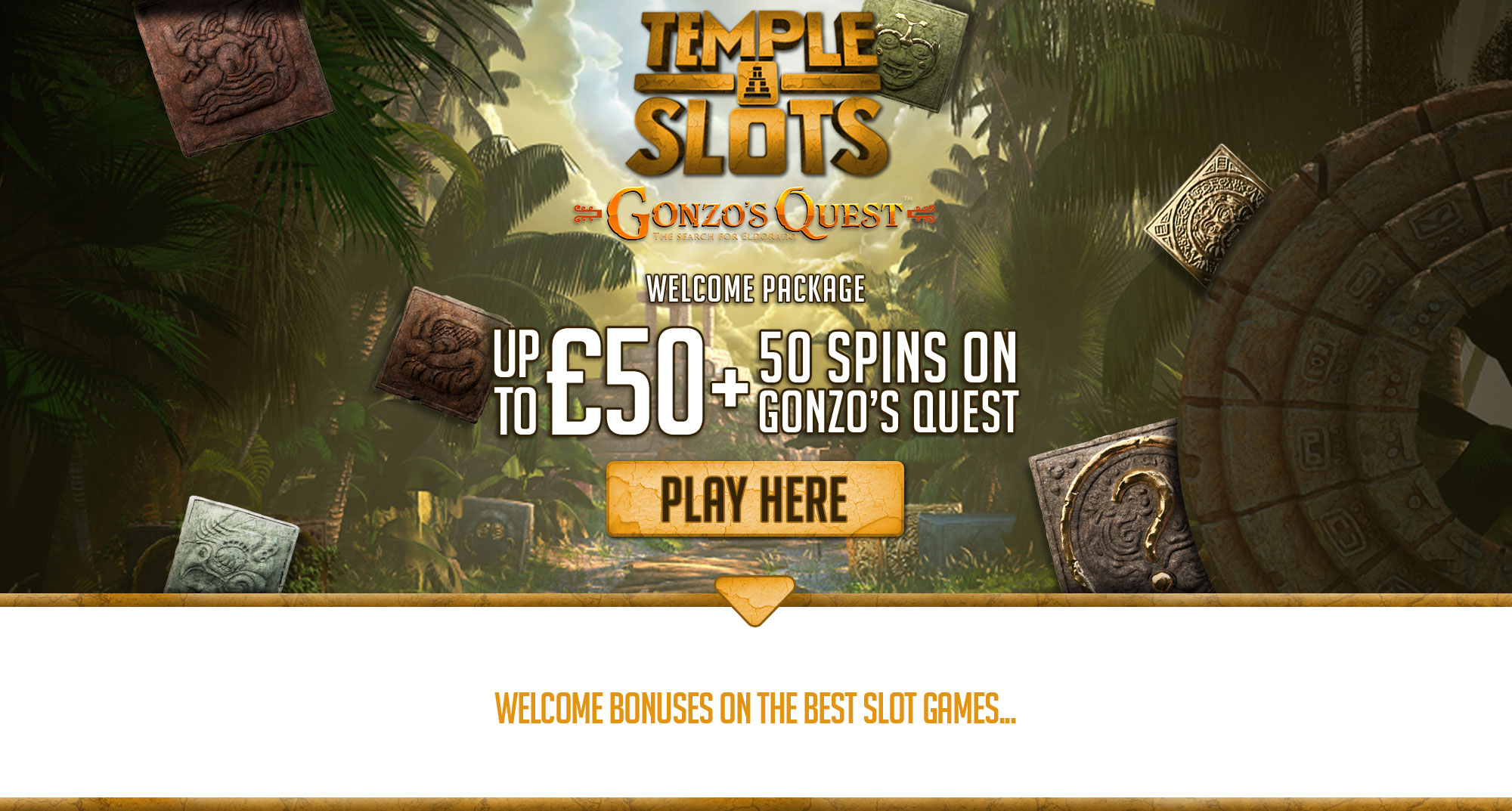 Temple Slots Welcome Package